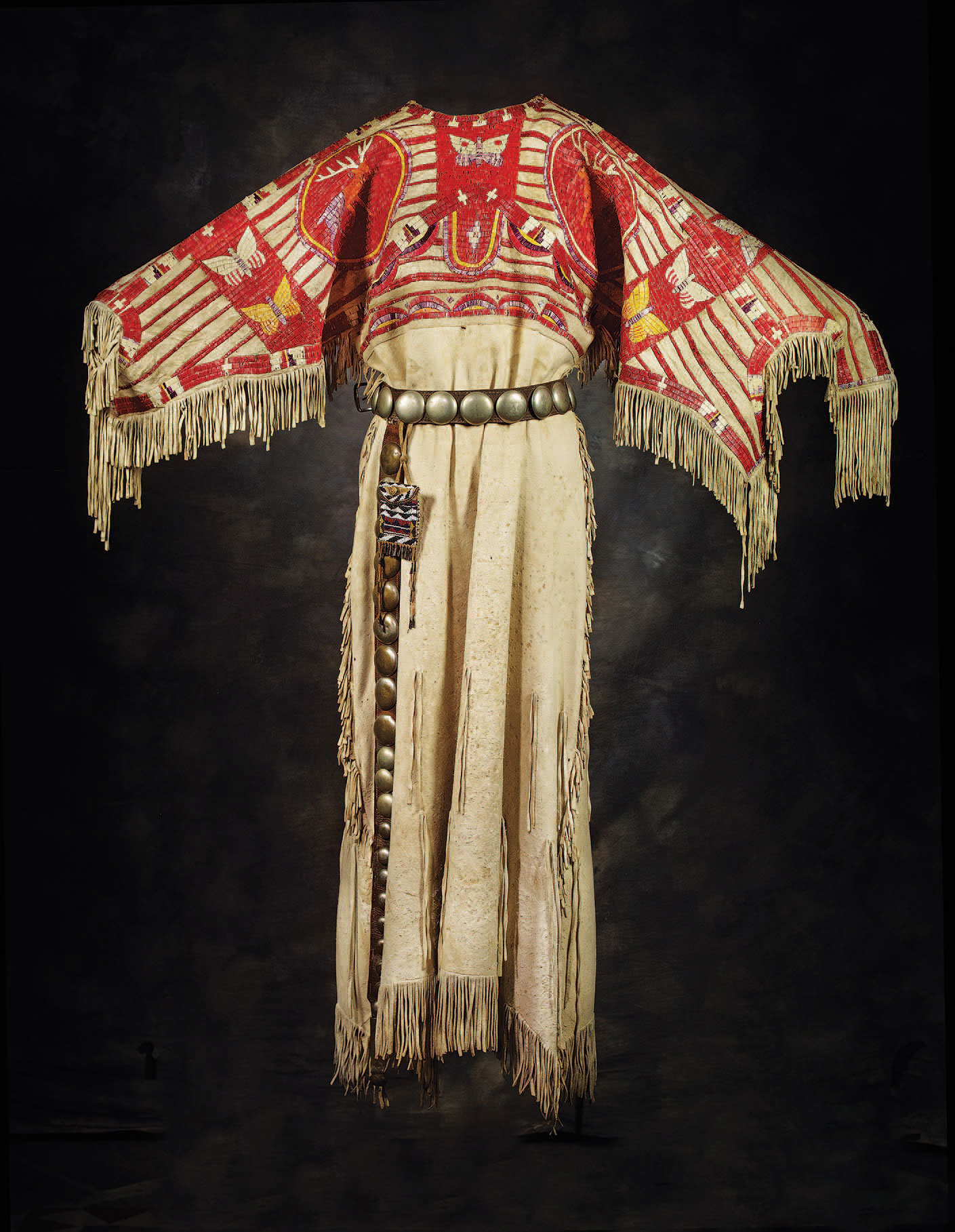 Quilled dress, Western Sioux, ca. 1880.